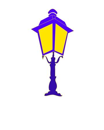 skylight: Antique lantern Illustration