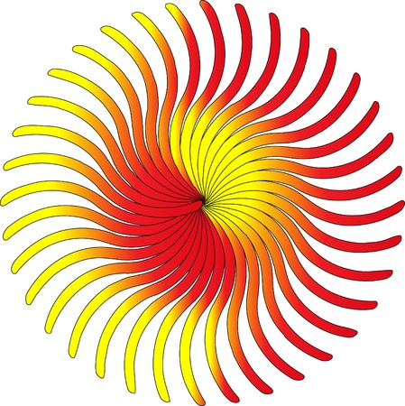 vortices: Colorful abstract background with colorful sun