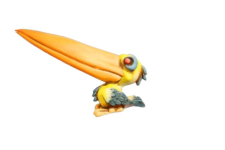 enormous: Merry pelican is caricature enormous nose Stock Photo
