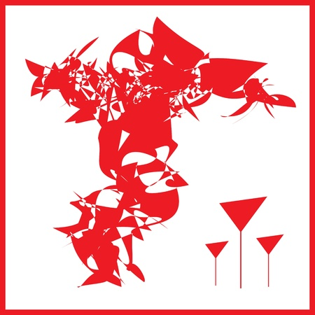 bocal: Abstraction in the red tones wine glass Stock Photo