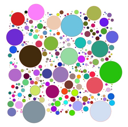 Abstract circles decorative Illustration