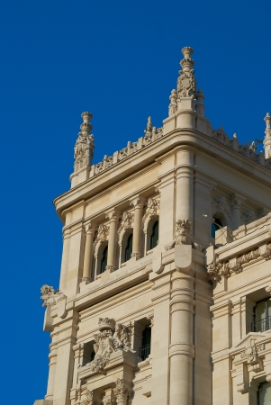 Historic buildings with lace fronts of Madrid Stock Photo - 14145595