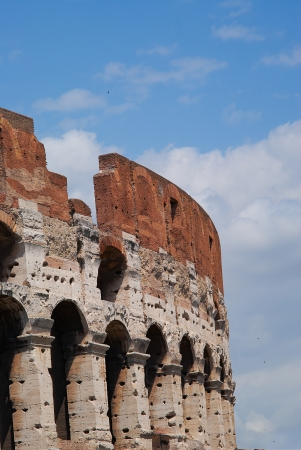 The Colosseum iselliptical amphitheatre in Rome, Italy. Stock Photo - 15056456