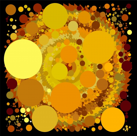 abstract spherical luminous gold stars Stock Vector - 15140396