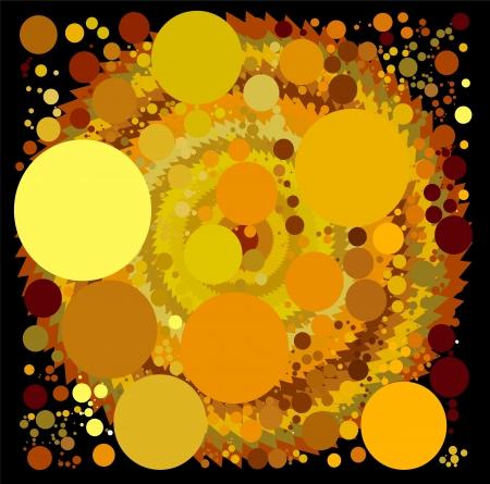 abstract spherical luminous gold stars Stock Vector - 15140396