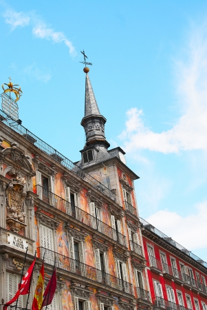 Historic buildings with lace fronts of Madrid