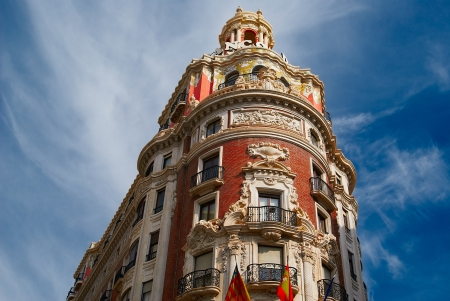 Historic  buildings with lace fronts Spain Stock Photo - 15902765
