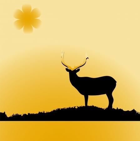 hart: funny brown Christmas moose smile Illustration