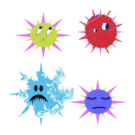 Germs and bugs Bacterium  comic Stock Vector - 16386400