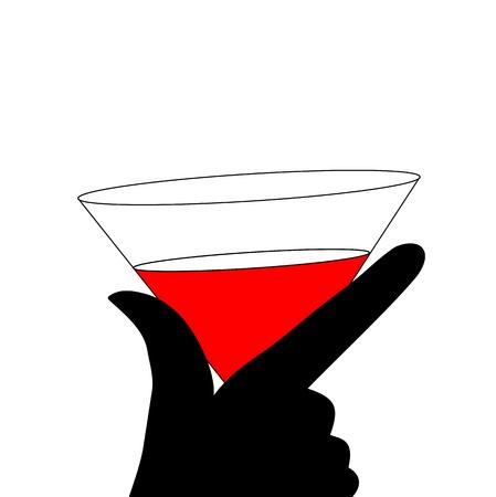 bocal: DONNA Astrazione silhouette vetro nero e rosso Vettoriali