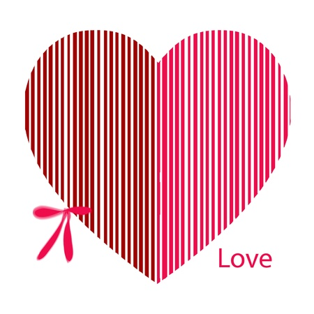 Valentines Day pink Hearts with lace on white Background Vector