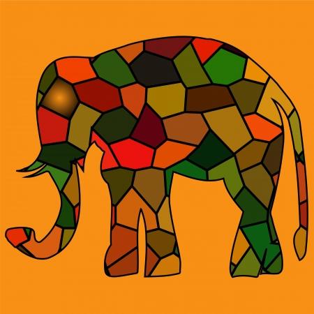 set og goldgolden framed elephants in light  rays Vector