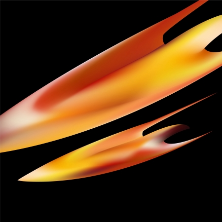 petals of Fire flaming  on black background Stock Vector - 17696091