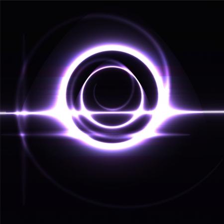 futuristic beams bright abstraction circle metal