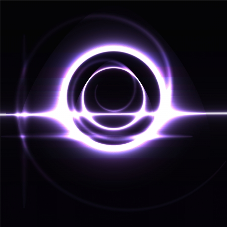 futuristic beams bright abstraction circle metal