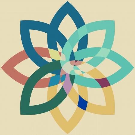 Colorful set leaf symbol icons Vector Illustration