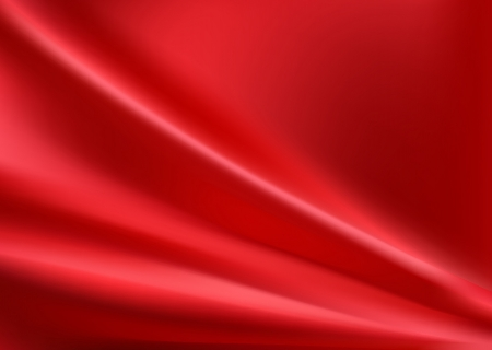 Red silk background with some soft folds Stock Illustratie