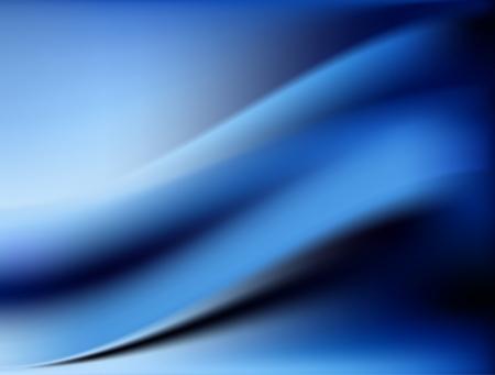 Fondo de seda azul con algunos pliegues suaves y luces horizontales