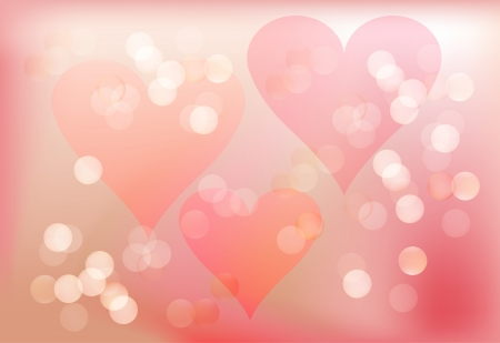 Spring romantic background in pink with hearts Vector