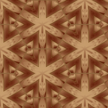 Decorative seamless patern brown wooden natural parquet Vector