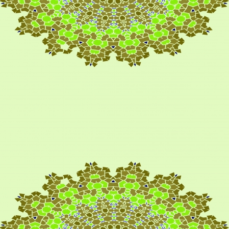 Green Lace color paisley floral colorful ethnic ornament kaleidoscope Vector