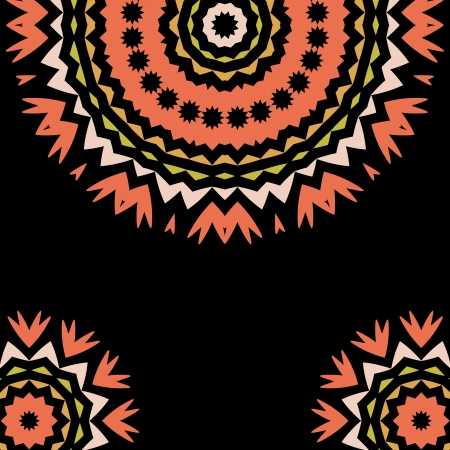 Lace floral colorful ethnic ornament kaleidoscope Vector