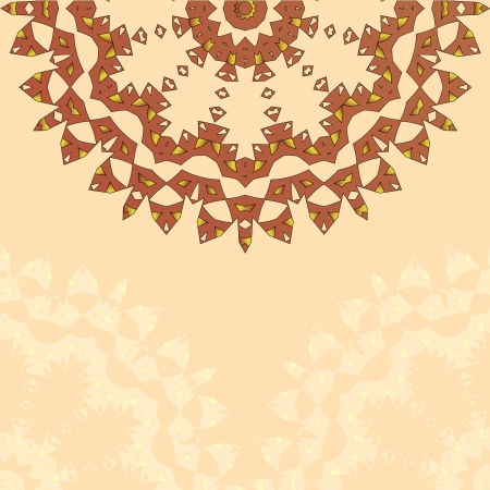 Lace paisley floral colorful ethnic ornament kaleidoscope Vector