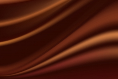 satiny cloth: Brown silk background with some soft folds and highlights horizontal