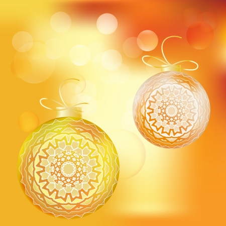 evening ball: light Christmas and New Year background with light evening ball
