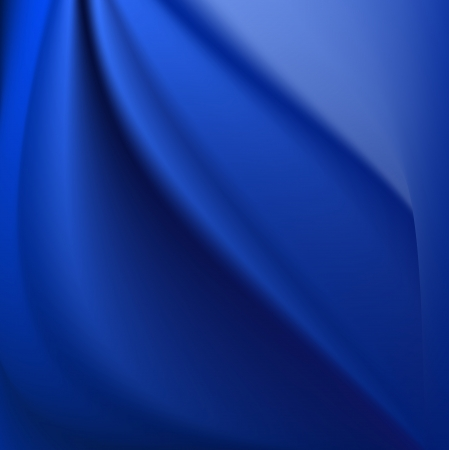 Blue magical glowing beautiful silk background with some soft folds and highlights horizontal Illustration