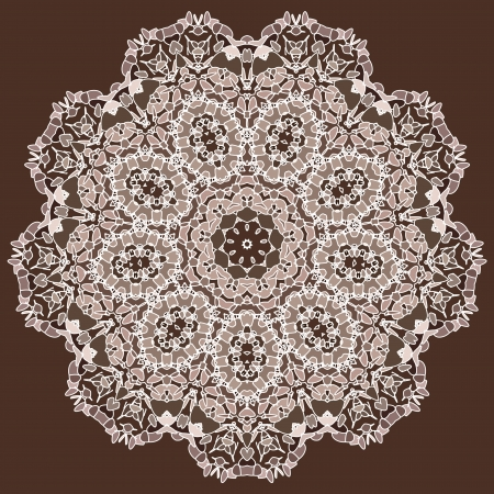 se of Lace color floral colorful ethnic ornament kaleidoscope Vector