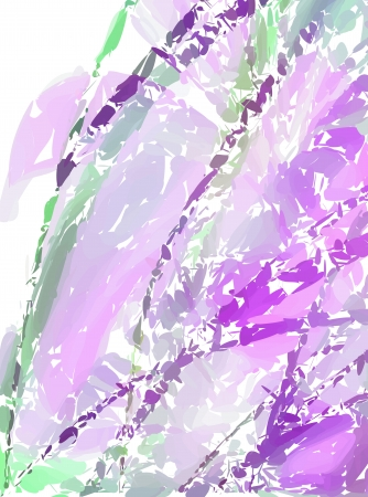Pink decorative beautiful flowering abstract light green background