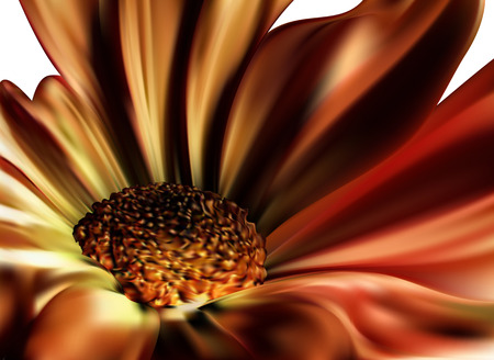 Red dark big flower with a fiery petals Vector