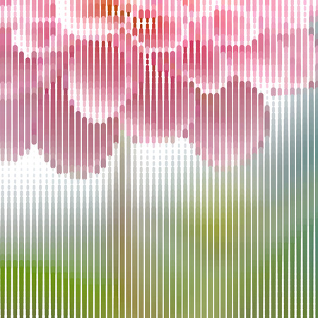 love declarations: Romantic fuzzy flower background for congratulations and declarations of love