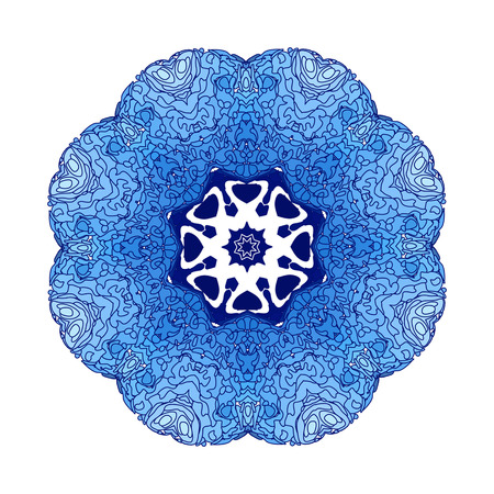 blue floral: Lace  blue floral colorful ethnic ornament kaleidoscope