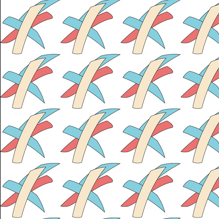 vintage seamless pattern red and blue Vector