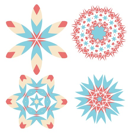 Lace floral colorful ethnic ornament Vector