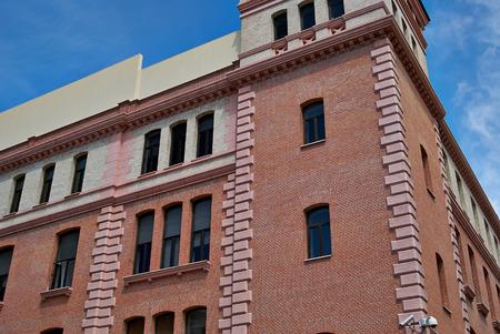 edifici con fronti pizzo della città di Madrid, Spagna