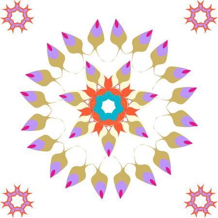 azure: Lace  blue, azure, turquoise, aquamarine floral colorful ethnic ornament kaleidoscope