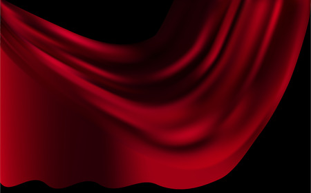 red maroon,scarlet silk background with some soft folds