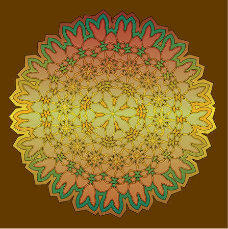 kaleidoscop: Lace  floral colorful ethnic ornament kaleidoscop