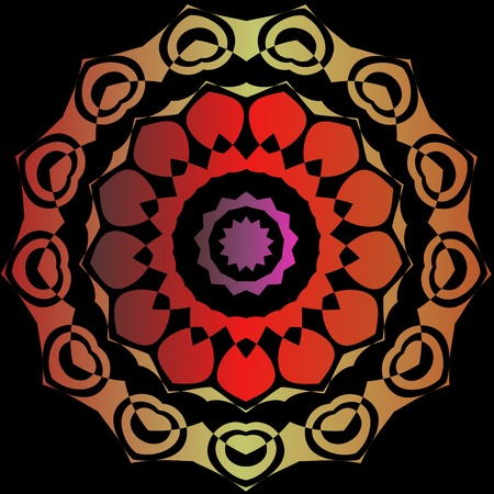 kaleidoscop: Lace  floral colorful ethnic ornament kaleidoscop