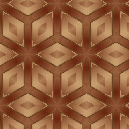 モザイクの背景から成っている様々 な木製のタイルのフロアー リング