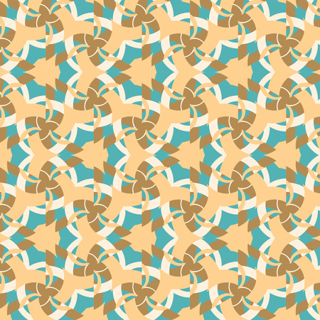 connection block: Abstract background, composed of yellow, brown seamless pattern Illustration