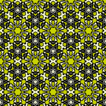 green and black: Abstract background, composed of yellow, green, black seamless pattern Illustration