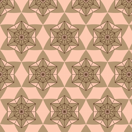 connection block: Abstract background composed  brown and shades of beige seamless pattern