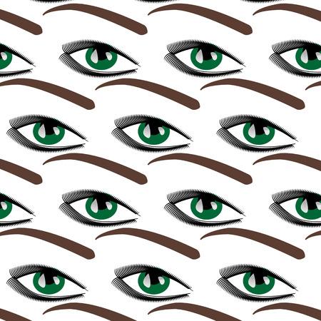 blue eyes: Symbolic modern pattern with female blue eyes