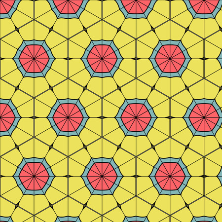 urban sprawl: Abstract geometric background composed of vintage colors bricks
