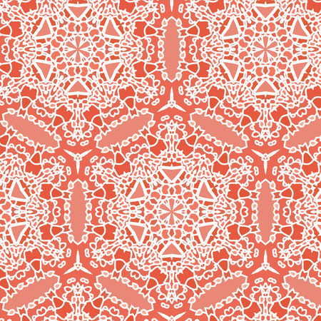 openwork: Openwork lace pattern seamless red on a white background