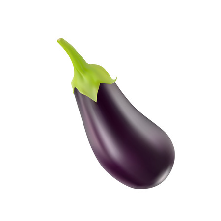 unpeeled: the Eggplant black  Isolated on white background